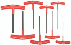 "Bondhus 15287 - 8 Piece 6"" Length Hex T-Handle Set - Sizes: 2-10mm"