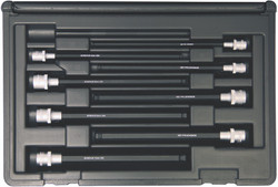 "Bondhus 30887 - 8 Piece ProHold Ball Bit Set, With Sockets, 6"" Length - Sizes: 3-10mm"