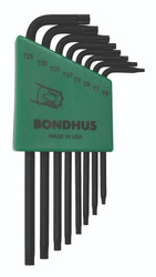 Bondhus 31832 - 8 Piece Torx L-wrench Set, Long Arm - Sizes: T6-T25
