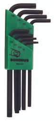 Bondhus 31834 - 8 Piece Torx L-wrenches Set, Long Arm - Sizes: T9-T40