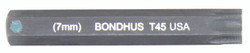"Bondhus 32045 - T45 ProHold Torx Bit, 2"" Length - Stock Size: 7mm"