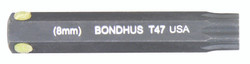 "Bondhus 32047 - T47 ProHold Torx Bit, 2"" Length - Stock Size: 8mm"