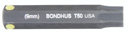 "Bondhus 32050 - T50 ProHold Torx Bit, 2"" Length - Stock Size: 9mm"