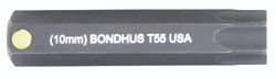 "Bondhus 32055 - T55 ProHold Torx Bit, 2"" Length - Stock Size: 10mm"