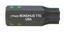 "Bondhus 32080 - T80 ProHold Torx Bit, 2"" Length - Stock Size: 19mm"