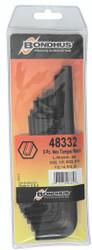 """Bondhus 48332 - 8 Piece Hex Tamper Resistant L-Wrench Set - Sizes: 3/32-3/8"""""""