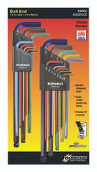 Bondhus 69600 - 22 Piece ColorGuard Ball End L-Wrench Set Double Pack