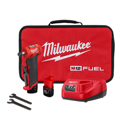 """Milwaukee 2485-22 - M12 FUEL™ 1/4"""" Right Angle Die Grinder 2 Battery Kit"""