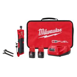 "Milwaukee 2486-22 - M12 FUEL™ 1/4"" Straight Die Grinder 2 Battery Kit"