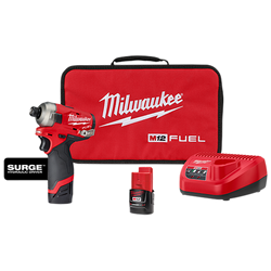 "Milwaukee 2551-22 - M12 FUEL™ SURGE™ 1/4"" Hex Hydraulic Driver 2 Battery Kit"