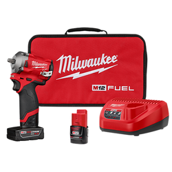 "Milwaukee 2554-22 - M12 FUEL 3/8"" Stubby Impact Wrench  Kit"