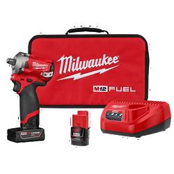 "Milwaukee 2555-22 - M12 FUEL Stubby 1/2"" Impact Wrench Kit"