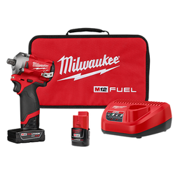 "Milwaukee 2555P-22 - M12 FUEL™ 1/2"" Stubby Impact Wrench w/ Pin Detent Kit"