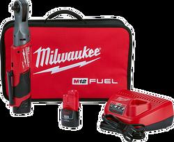 "Milwaukee 2557-22 - M12 FUEL™ 3/8"" Ratchet 2 Battery Kit"