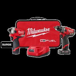 Milwaukee 2582-22 - M12 FUEL™ SURGE™ HDD 2-PC Combo Kit