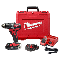 "Milwaukee 2801-22CT - M18 Compact Brushless 1/2"" Drill Driver Kit"