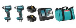 Makita DLX2186T - 18V (5.0 Ah) LXT 2 Tool Combo Kit