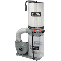 King Canada KC-2405C/KDCF-2400 - 700 CFM / 1 HP dust collector with 1 micron canister filter