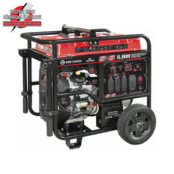 King Canada KCG-15000GE - 15,000W Gasoline Generator with Electric Start and Wheel Kit