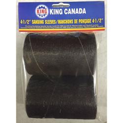 "King Canada SL-430-K-120 - 2 pc. 4-1/2"" x 3"" -120 Grit wood sanding sleeve kit"
