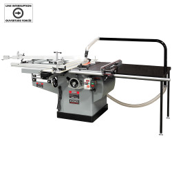 """King Canada KC-36FXT/360ST - 10"""" Scoring saw with sliding table & outrigger table"""