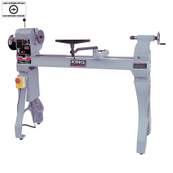"King Canada KWL-1643ABC - 16"" x 43"" Wood lathe with electronic variable speed"