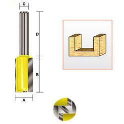 "Kempston -   Straight Bit w/Bottom Cutter, 3/8"" x 1"" - 105013"