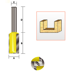 "Kempston -   Straight Bit w/Bottom Cutter, 1"" x 3/4"" - 105081"