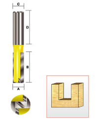 "Kempston -   Straight Bit w/Bottom Cutter, 7/16"" x 1"" - 106423"