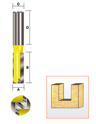 "Kempston -   Straight Bit w/Bottom Cutter, 7/8"" x 1-1/4"" - 106475"