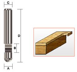 "Kempston -   Flush Trim Bit, SC, 1/4"" x 1/4"" - 158011"
