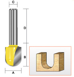 "Kempston -   Round Nose Bit, 1"" x 1-1/4"" - 204451"