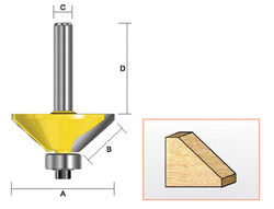 "Kempston -   Chamfer Bit, 1/2"" cutting Length x 45D - 306021"