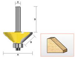 "Kempston -   Chamfer Bit, 1"" cutting Length x 45D - 306461"
