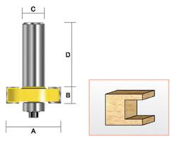 Kempston -   T Slotting Bit, 1-1/4 x 1/2 - 307061