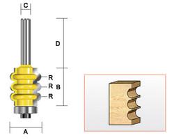 "Kempston -   Triple Flute Bit, 1/8""  Radius - 324011"