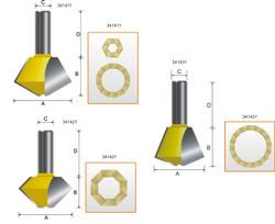 "Kempston -   Multi-Sides Glue Joint Bit, 67-1/2 / 67-1/2 degree x 1"" Stock Thickness - 341431"