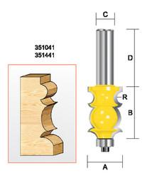"Kempston -   Specialty Molding Bit, 1/8"" Radius - 351041"