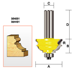 "Kempston -   Multi-Molding Bit, 3/32""  Radius - 354431"