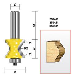 """Kempston -   Specialty Molding Bit, 1-1/8"""" x 1"""" - 359411"""