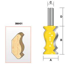 """Kempston -   Crown Molding Bit, 1-1/4"""" x 2-1/4"""" - 360431"""