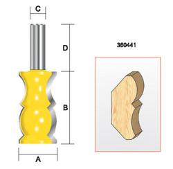 """Kempston -   Crown Molding Bit, 1-1/4"""" x 2-1/4"""" - 360441"""