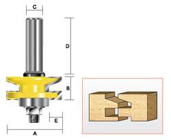 Kempston -   Reversible Rail & Stile Cutter, Chamfer - 409021