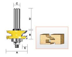 Kempston -   Reversible Rail & Stile Cutter, Traditional Ogee - 409431