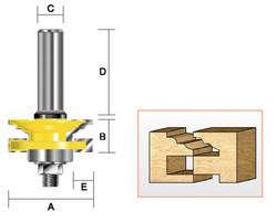 Kempston -   Reversible Rail & Stile Cutter, Classical - 409441