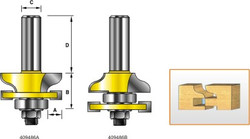 Kempston -   Miniature Matched Rail & Stile Set - Roman Ogee - 409486