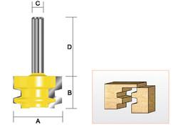"Kempston -   Drawer Lock Bit, 1-1/16"" x 3/4"" - 605011"