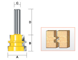 "Kempston -   Reversible Glue Joint Bit, 1-1/2"" x 1-3/16"" - 608411"