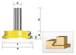 """Kempston -   Drawer Corner Lock Bit, 2"""" x 1/2"""" - 612421"""