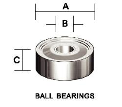 Kempston -   Ball Bearing, 8mm x 4mm x 3mm - 706107
